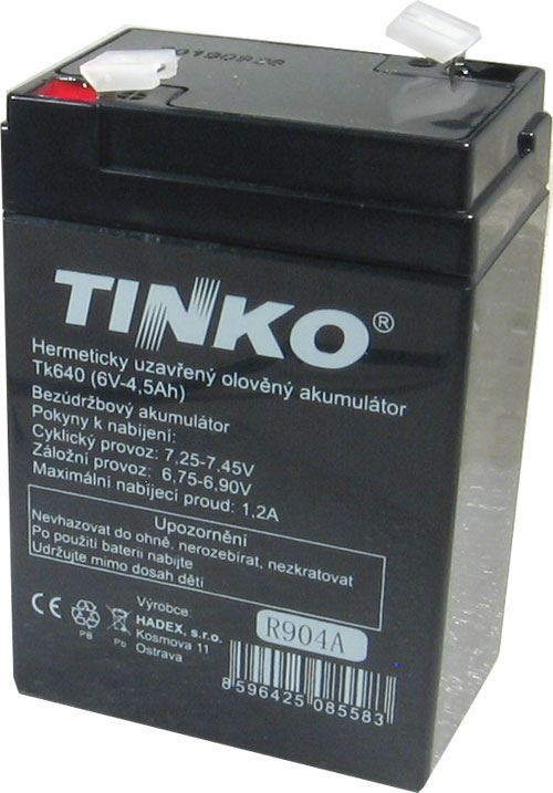 Pb akumulátor TINKO VRLA AGM 6V/4,5Ah