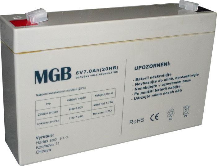 Pb akumulátor MHB VRLA AGM 6V/7Ah