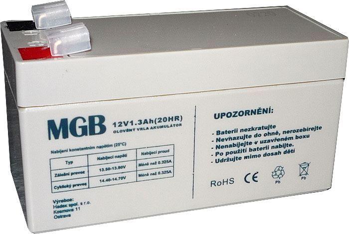 Pb akumulátor MHB VRLA AGM 12V/1,3Ah