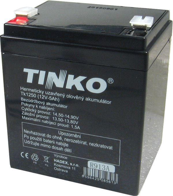 Pb akumulátor TINKO VRLA AGM 12V/5Ah