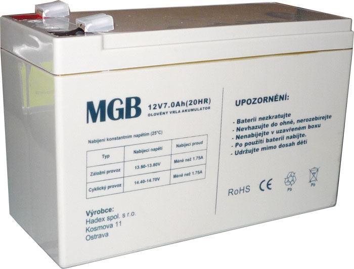 Pb akumulátor MHB VRLA AGM 12V/7Ah s fastony