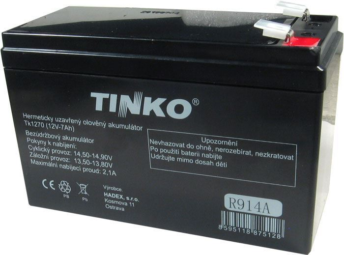 Pb akumulátor TINKO VRLA AGM 12V/7Ah
