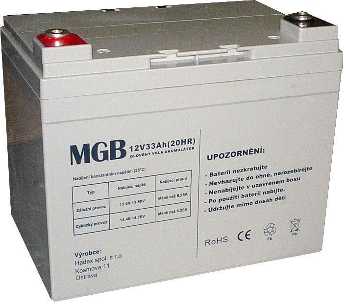 Pb akumulátor MHB VRLA AGM 12V/33Ah