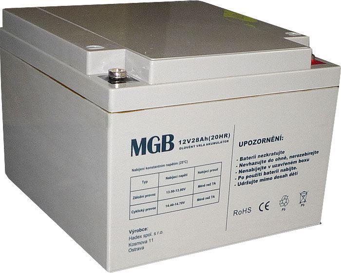 Pb akumulátor MHB VRLA AGM 12V/28Ah