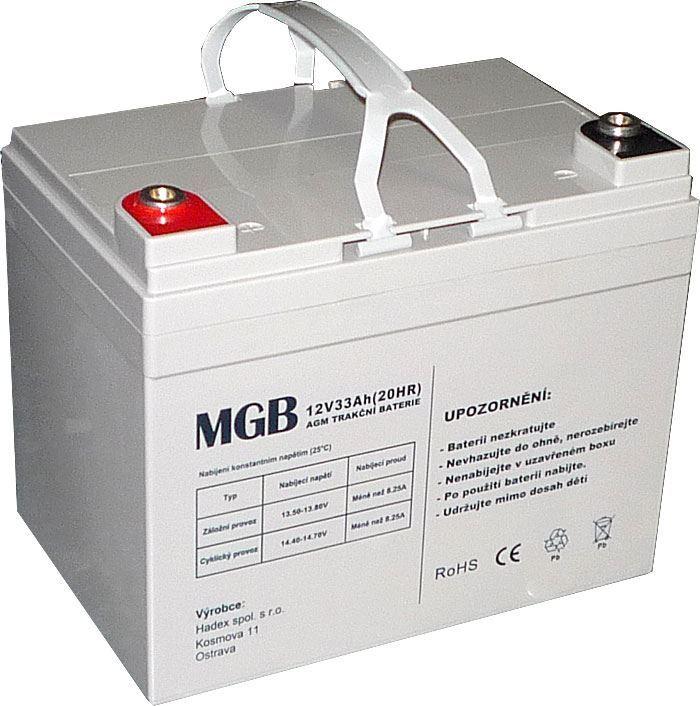 Pb akumulátor MHB VRLA AGM 12V/33Ah polotrakční