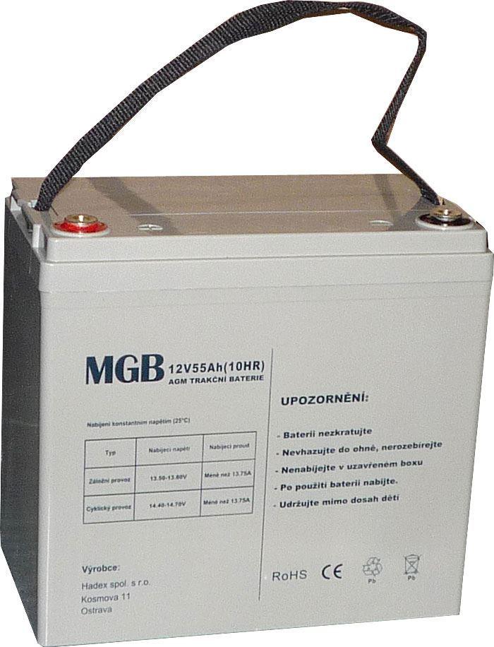 Pb akumulátor MHB VRLA AGM 12V/55Ah polotrakční