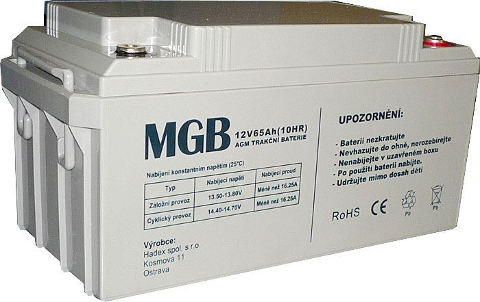 Pb akumulátor MHB VRLA AGM 12V/65Ah polotrakční