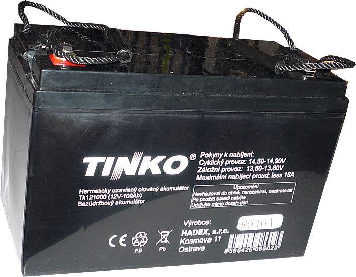 Pb akumulátor TINKO VRLA AGM 12V/100Ah polotrakční