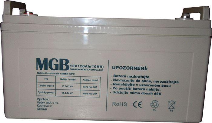Pb akumulátor MHB VRLA AGM 12V/120Ah polotrakční