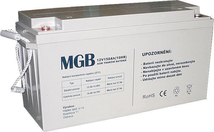 Pb akumulátor MHB VRLA AGM 12V/150Ah polotrakční