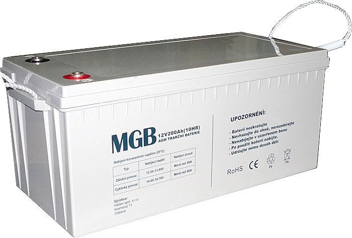 Pb akumulátor MHB VRLA AGM 12V/200Ah polotrakční