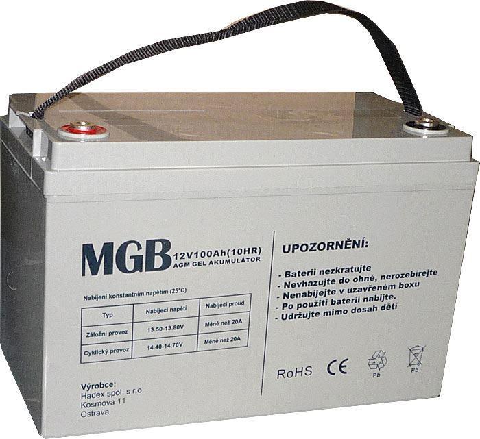 Pb akumulátor MHB VRLA AGM 12V/100Ah trakční