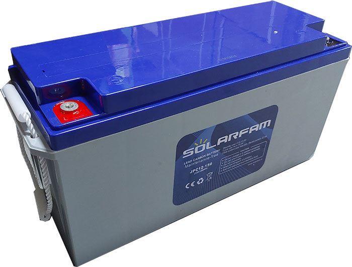 Pb uhlíkový akumulátor JPC12-150, 12V/150Ah pro solární systémy