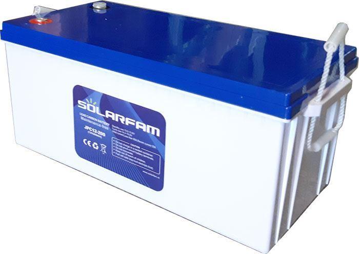 Pb uhlíkový akumulátor JPC12-200, 12V/200Ah pro solární systémy