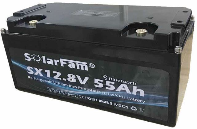 LiFePO4 akumulátor Solarfam SX12V55AH-P, 12V/55Ah pro solární systémy