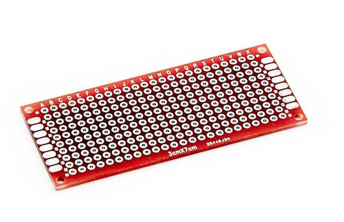 Univerzální DPS PCB256, vrtaná, cínovaná 30x70mm