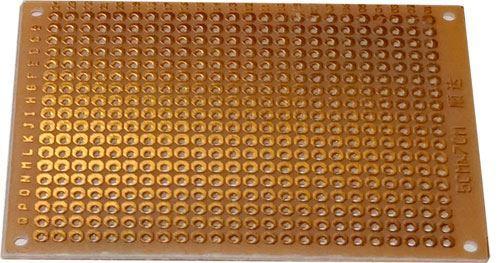 Univerzální DPS 5x7cm, 432p, RM=2,54mm, vrtaná