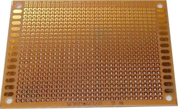 Univerzální DPS 7x9cm, 720p, RM=2,54mm, vrtaná