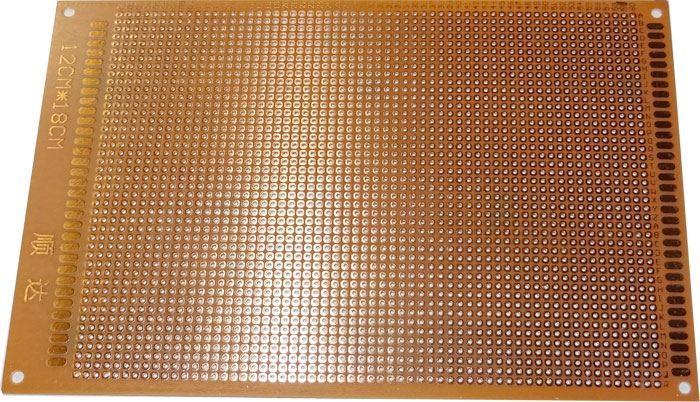 Univerzální DPS 12x18cm, RM=2,54mm, vrtaná