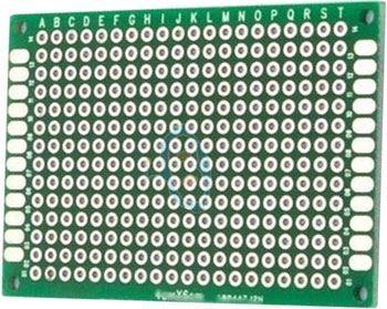 Univerzální DPS 6x4cm, 280p, RM=2,54mm, vrtaná, cínovaná