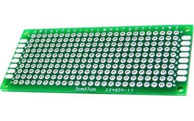 Univerzální DPS 3x7cm, 240p, RM=2,54mm, vrtaná, cínovaná