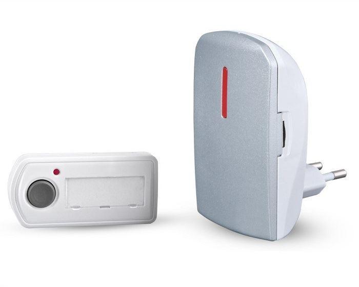 Bezdrátový zvonek - síťový BZ11-stříbrná- Elektrobock