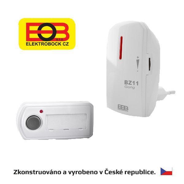 Bezdrátový zvonek - síťový BZ11-bílá Elektrobock