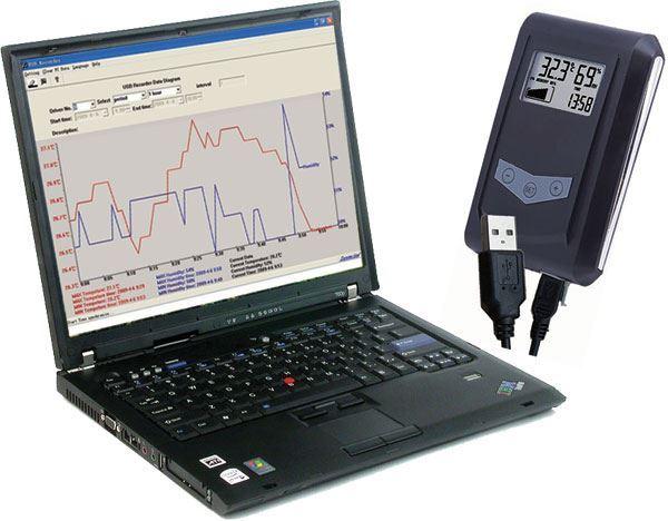Teploměr+vlhkoměr DS100 se záznamem- USB Datalogger, vadný