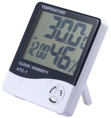 Teploměr+vlhkoměr+hodiny HTC-1