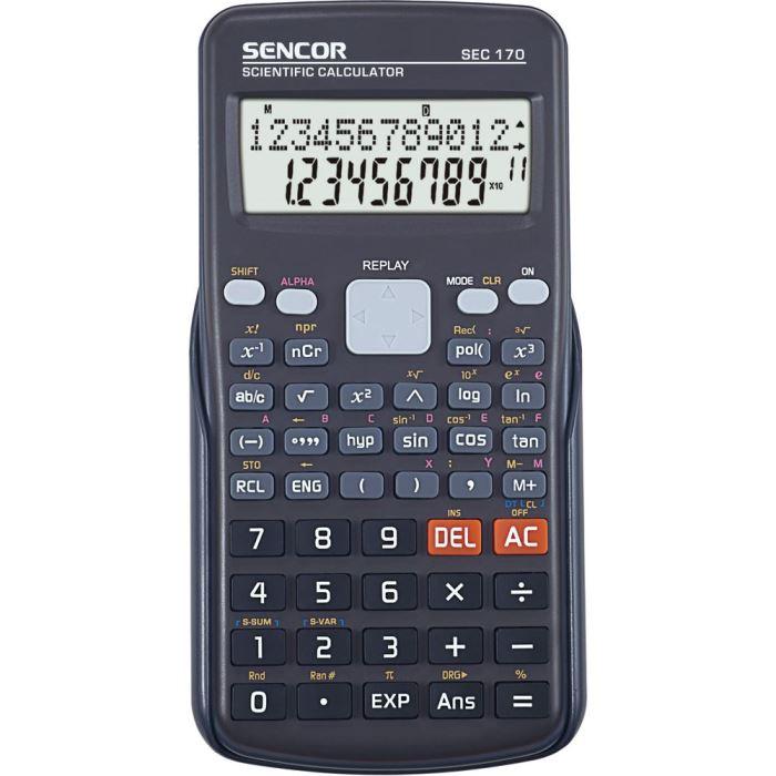 Vědecký kalkulátor- kalkulačka -240 funkcí, SEC 170 SENCOR