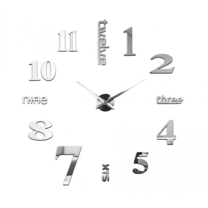 N st nn samolepic 3d hodiny 100cm h a d e x spol s - Relojes de pared modernos para salon ...
