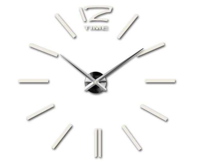 Nástěnné samolepicí hodiny, 65-120cm