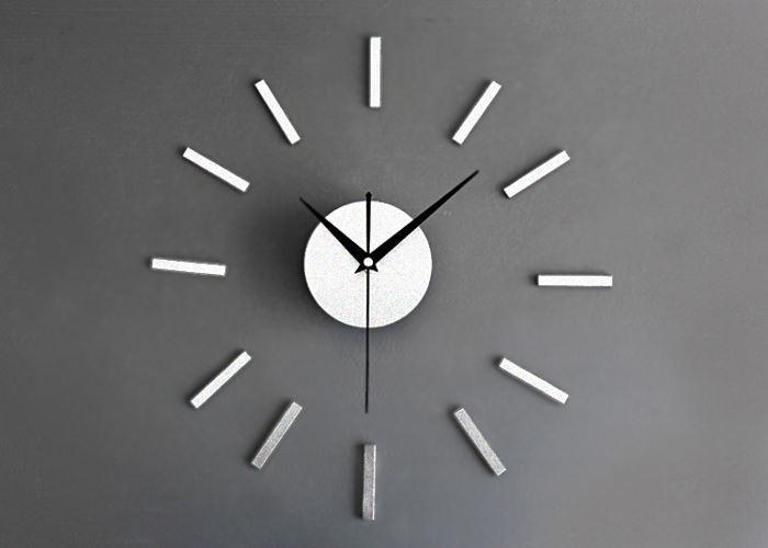 Nástěnné samolepicí hodiny, 30-60cm