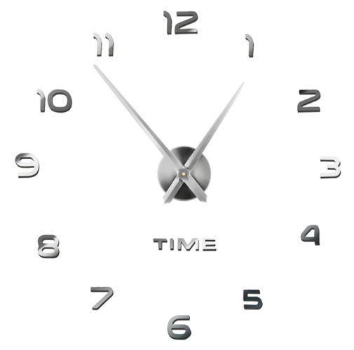 Nástěnné samolepicí hodiny, 60-130cm