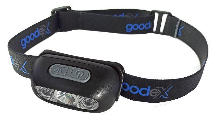 Svítilna, čelovka LED černá s pohybovým senzorem a akumulátorem