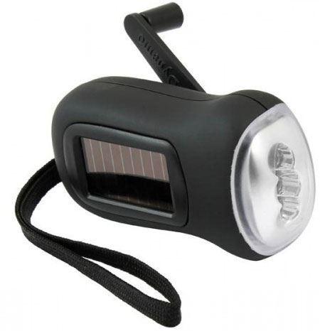 Svítilna LED nabíjecí s generátorem a solárním článkem
