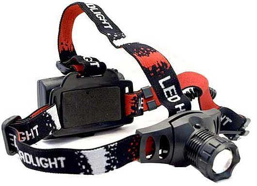 Svítilna LED 5W ,čelovka ZT-6522, napájení 3xAA