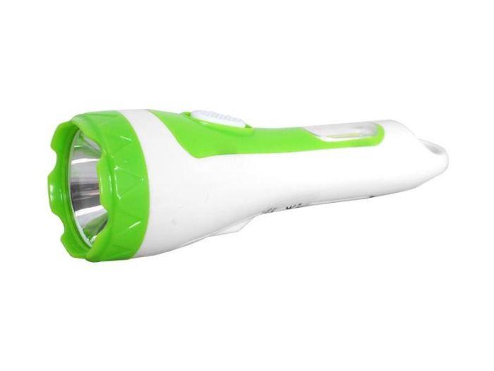 Svítilna LED + COB 5W  nabíjecí USB, 1500mAh, bílo-zelená