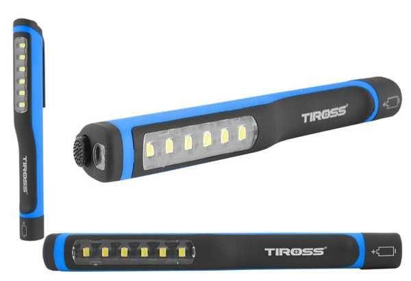 Pracovní svítilna LED 6x+1x, napájení 3xAAA 1,5v, TIROSS