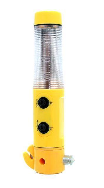 Multifunkční svítilna , bezpečnostní kladívko, nůž