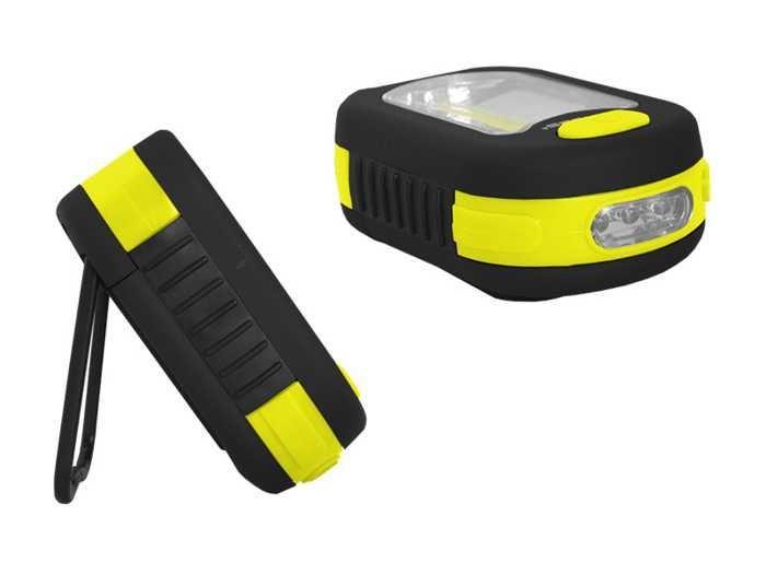 Svítilna LED COB + 3xLED, napájení 3xAAA,, žlutá, TIROSS
