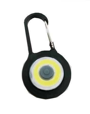Klíčenka na batoh LED COB, černá