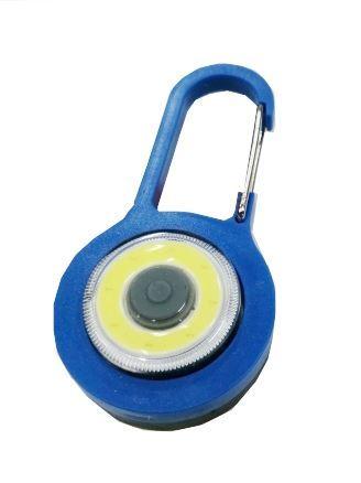 Klíčenka na batoh LED COB, modrá