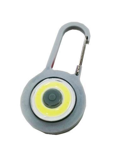 Klíčenka na batoh LED COB, šedá