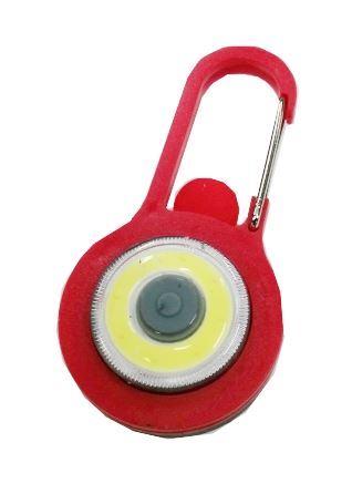 Klíčenka na batoh LED COB, červená