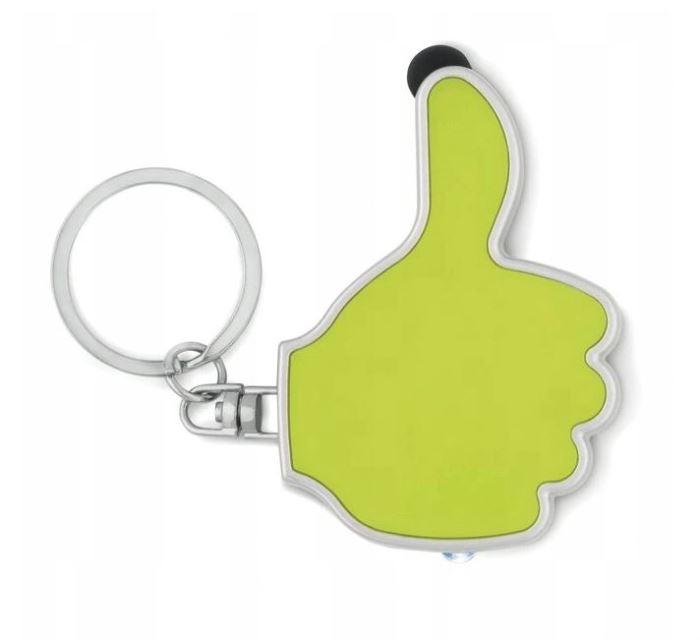Klíčenka LED + stylus - zelená