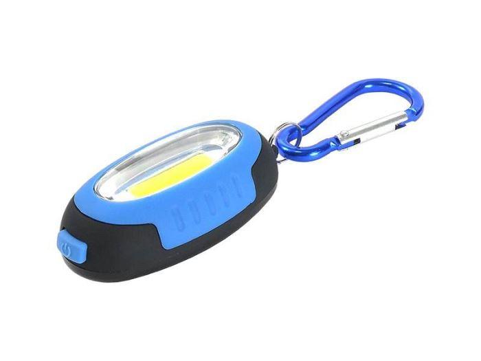 Svítilna klíčenka s magnetem, LED COB 1W, modrá
