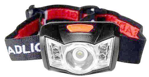 Svítilna LED 1W bílá+4x červená ZT-6615, čelovka