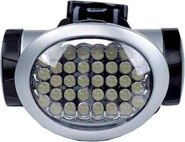 Svítilna LED 38x,čelovka,napájení 3xAA