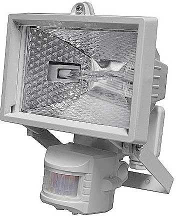 Reflektor 150W halogenový s PIR čidlem,bílý